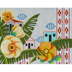 Leigh Designs - Hand-painted Needlepoint Canvases - Caribe - Antigua