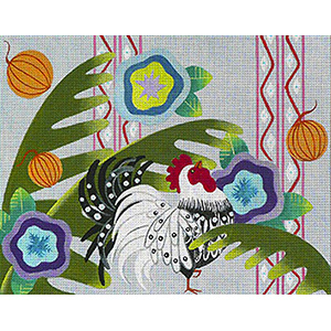 Leigh Designs - Hand-painted Needlepoint Canvases - Caribe - Tortuga
