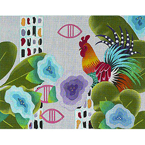 Leigh Designs - Hand-painted Needlepoint Canvases - Caribe - Martinique