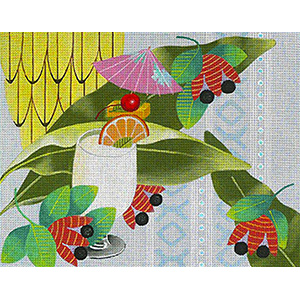 Leigh Designs - Hand-painted Needlepoint Canvases - Caribe - Jamaica