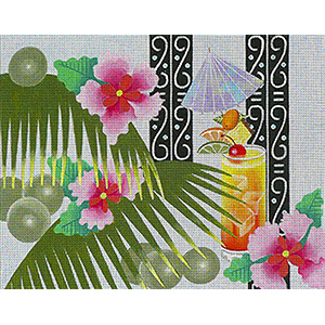 Leigh Designs - Hand-painted Needlepoint Canvases - Caribe - Bermuda