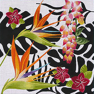 Leigh Designs - Hand-painted Needlepoint Canvases - Jungle Heat Collection - Volcanic Hawaii