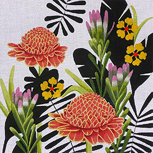 Leigh Designs - Hand-painted Needlepoint Canvases - Jungle Heat Collection - New Guinea Fever