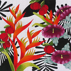 Leigh Designs - Hand-painted Needlepoint Canvases - Jungle Heat Collection - Torrid Malaysia