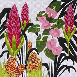 Leigh Designs - Hand-painted Needlepoint Canvases - Jungle Heat Collection - Costa Rican Flame