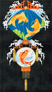 Leigh Designs - Hand-painted Needlepoint Canvases - Illuminations - Inlet of Courage