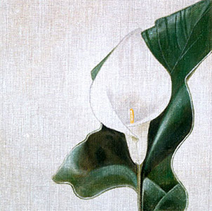 Leigh Designs - Hand-painted Needlepoint Canvases - Classic Florals - Calla Lily
