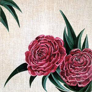 Leigh Designs - Hand-painted Needlepoint Canvases - Classic Florals - Peony