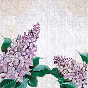Leigh Designs - Hand-painted Needlepoint Canvases - Classic Florals - Lilac