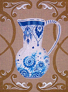 Leigh Designs - Hand-painted Needlepoint Canvases - Fripperies - Delft