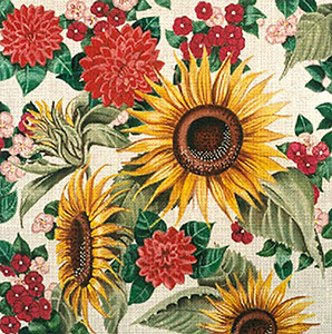 Leigh Designs - Hand-painted Needlepoint Canvases - Lush Florals - Seeds of Summer