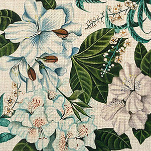 Leigh Designs - Hand-painted Needlepoint Canvases - Lush Florals - Spring Blues
