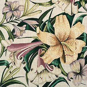 Leigh Designs - Hand-painted Needlepoint Canvases - Lush Florals - Lily Bed