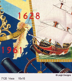 Leigh Designs - Hand-painted Needlepoint Canvases - The Tall Ships - Vasa