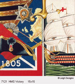 Leigh Designs - Hand-painted Needlepoint Canvases - The Tall Ships - HMS Victory