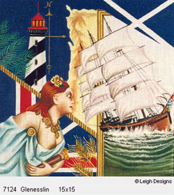 Leigh Designs - Hand-painted Needlepoint Canvases - The Tall Ships - Glenesslin