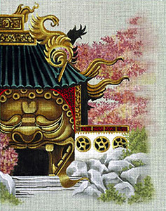 Leigh Designs - Hand-painted Needlepoint Canvases - Pagodas - Gateway to Foo