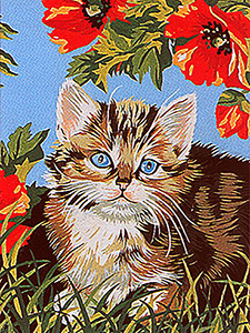 Margot Creations de Paris Needlepoint - Le Chaton (The Cat)