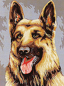 Margot Creations de Paris Needlepoint - Berger Allemand (German Shepherd)