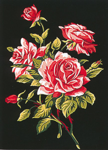 Margot Creations de Paris Needlepoint - Small Needlepoint Canvases - Branche de Roses (Branch of Roses)