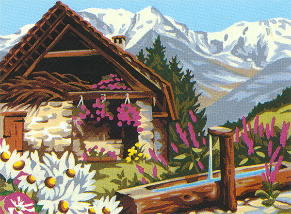 Margot Creations de Paris Needlepoint - La Haut sur la Montagne