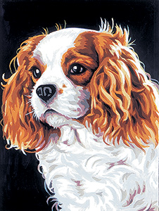 Margot Creations de Paris Needlepoint - Le Cavalier King Charles (King Charles Spaniel)