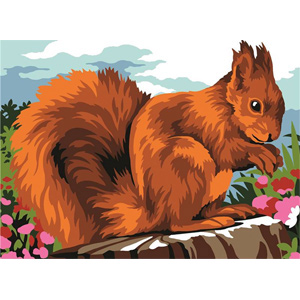 Margot Creations de Paris Needlepoint - Ecureuil (Squirrel)