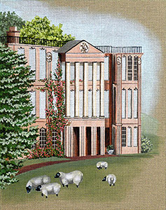 Leigh Designs - Hand-painted Needlepoint Canvases - Manor Born - Hatton Hall