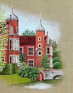 Leigh Designs - Hand-painted Needlepoint Canvases - Manor Born - Kentwell Place