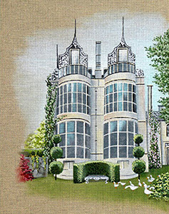 Leigh Designs - Hand-painted Needlepoint Canvases - Manor Born - Kirby Hall