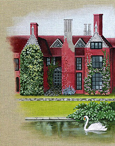 Leigh Designs - Hand-painted Needlepoint Canvases - Manor Born - Ingatestone Manor
