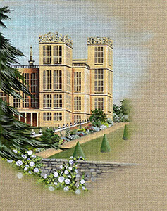 Leigh Designs - Hand-painted Needlepoint Canvases - Manor Born - Hardwick Hall