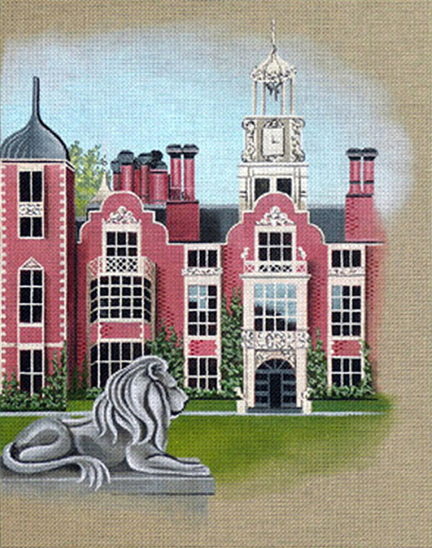 Leigh Designs - Hand-painted Needlepoint Canvases - Manor Born - Blickling Hall