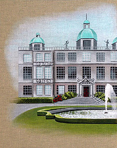 Leigh Designs - Hand-painted Needlepoint Canvases - Manor Born - Longleat Hall