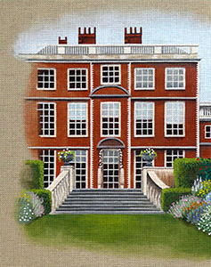 Leigh Designs - Hand-painted Needlepoint Canvases - Manor Born - Newby House
