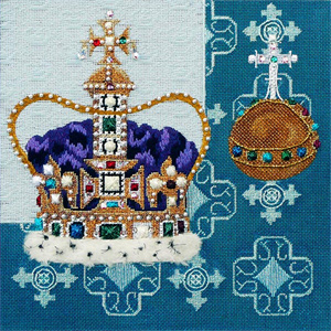 Leigh Designs - Hand-painted Needlepoint Canvases - Crown Jewels - Coronation