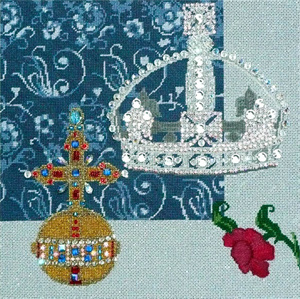 Leigh Designs - Hand-painted Needlepoint Canvases - Crown Jewels - Empress
