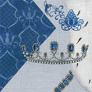 Leigh Designs - Hand-painted Needlepoint Canvases - Crown Jewels - Countess