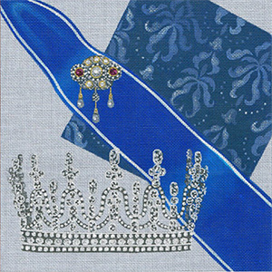 Leigh Designs - Hand-painted Needlepoint Canvases - Crown Jewels - Princess Royal