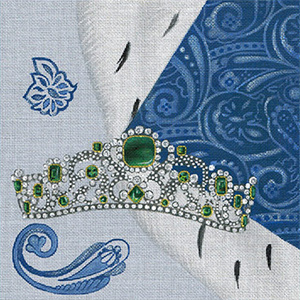 Leigh Designs - Hand-painted Needlepoint Canvases - Crown Jewels - Duchess