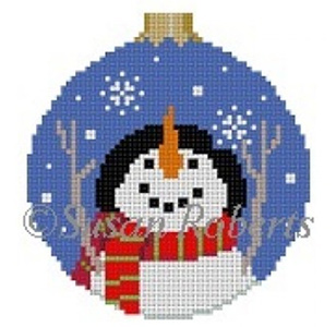 Susan Roberts Needlepoint Designs - Hand-painted Canvas - Let It Snow