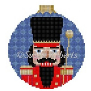 Susan Roberts Needlepoint Designs - Hand-painted Canvas - Band Major Nutcracker Ornament