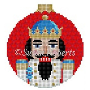 Susan Roberts Needlepoint Designs - Hand-painted Canvas - King Nutcracker Ornament