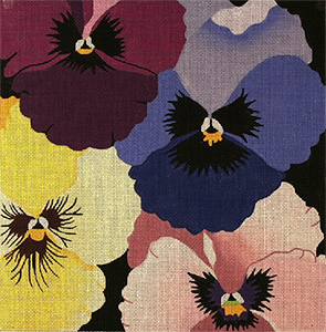 Pansy Galore - Hand Painted Needlepoint Canvas from dede's Needleworks