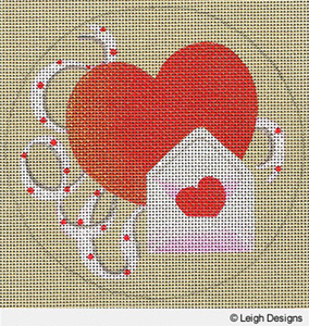 Leigh Designs - Hand-painted Needlepoint Canvases - Holiday Collection - Valentine's Day