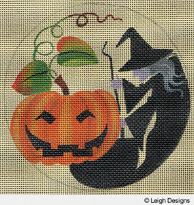 Leigh Designs - Hand-painted Needlepoint Canvases - Holiday Collection - Halloween