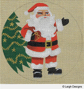 Leigh Designs - Hand-painted Needlepoint Canvases - Holiday Collection - Christmas