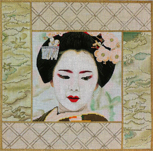 Pale Green Geisha Square