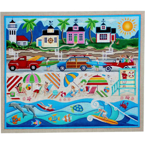 Summer Hand Painted Canvas from Rebecca Wood