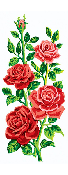 Red Rose Arrangement - Collection d'Art Needlepoint Canvas